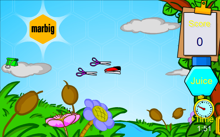 Marbig Bubble Buzz online game screenshot